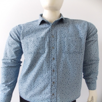 Camisa Jeans Jhon Slim ML